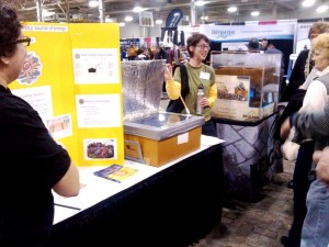Solar cooker demo at the Flower and Patio Show