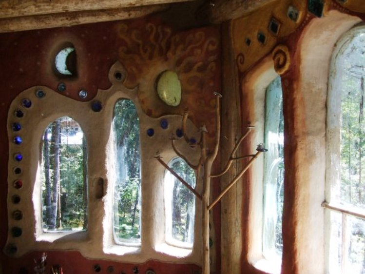 Interior of a Mudgirl-built home.