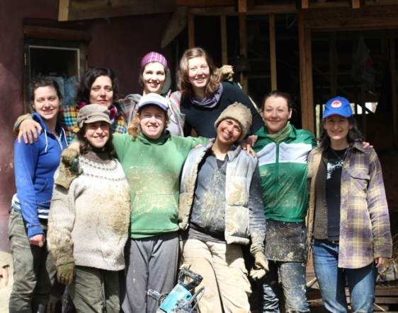 The Mudgirls, a collective of women builders on the west coast of BC, Canada