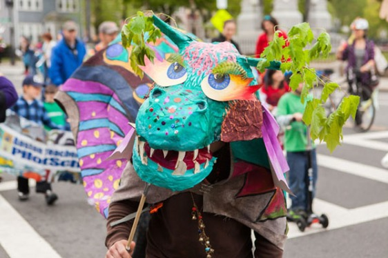 Pageantry and puppetry abound at the Wake Up the Earth Festival