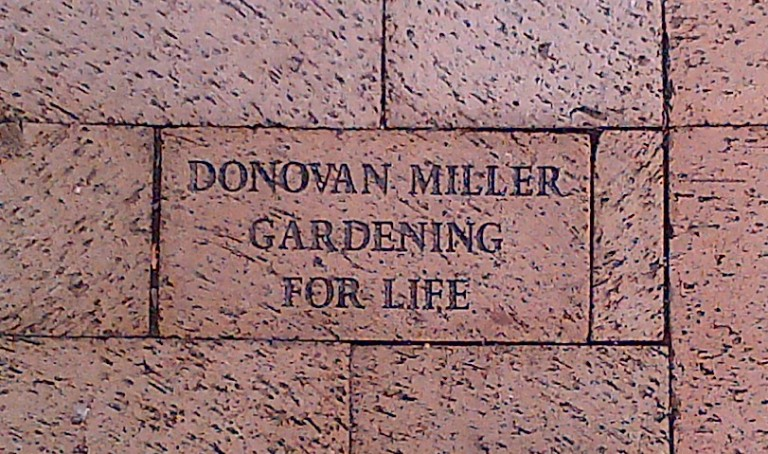 We honored Dad with this walkway brick at Holliday Park Nature Center on his retirement.
