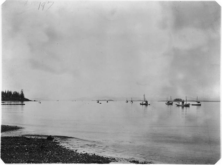 Fishing Boats in Metlakatla, Alaska, ca. 1856 - 1936. National Archives and Records Administration.