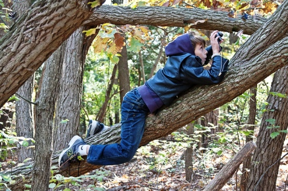 Boy scout photographing nature at the Edwin B. Forsythe National Wildlife Refuge. Photo credit: USFWS, via flickr Commons