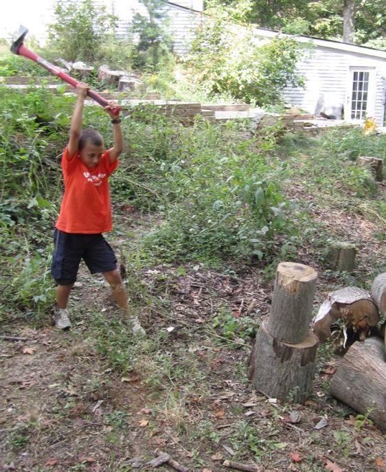 Demonstrating wood splitting