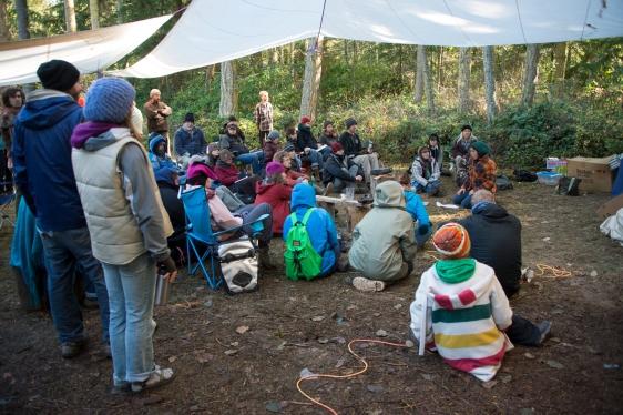 Grassroots Bioeremediation workshop with Leila Darwish at the Radical Mycology Convergence