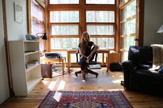 Sierra Murdoch. Photo taken at writing residency, Banff Centre for the Arts, 2012.