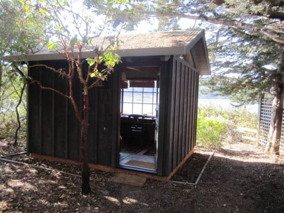 My writing shed at Mesa Refuge