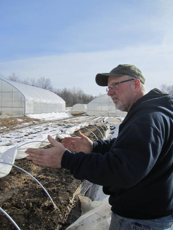 Jim Baughman showed me around his farm on a February day.