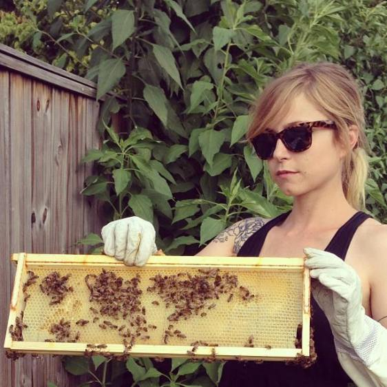 Kate Franzman, beekeeper and urban farmer