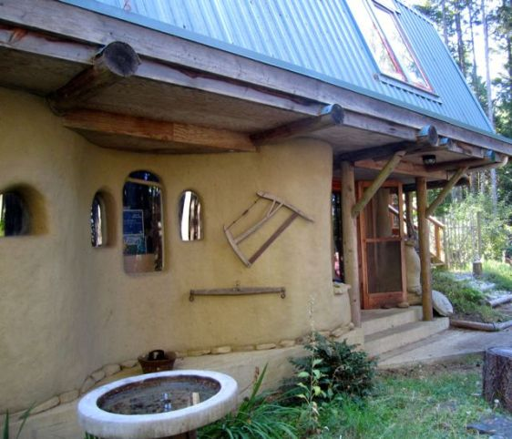 Example of a finished cob house (actually this one's a hybrid).