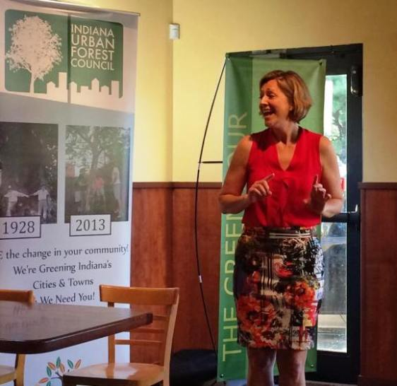 Holly Jones at the Indiana Urban Tree Council