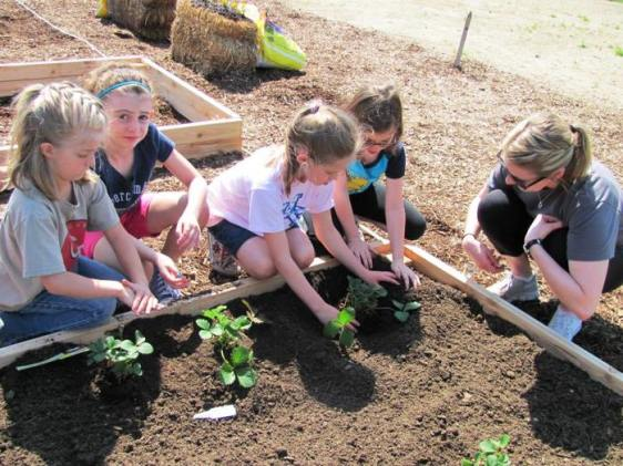 Planting garden at Avon Outdoor Learning Center